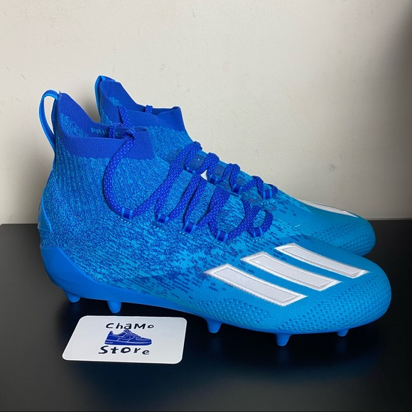 Adidas Adizero Primeknit Mens Football Cleats Blue